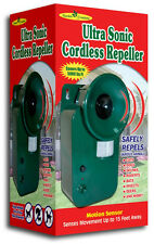 Ultrasonic Cordless Repeller Safely Repels Various Animals Covers 5000 sq ft