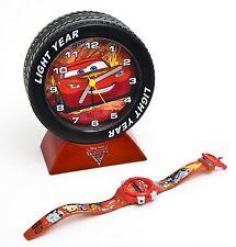 """Nuevo En Caja De Disney Cars 2 niños LCD Reloj con alarma de Neumáticos Set """"gran idea del regalo"""""""