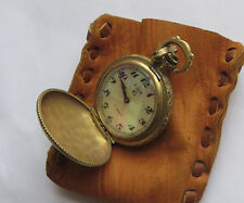 Antique ornate Swiss Elgin Pocket Pendant Watch, pretty but nonworking,17 jewels