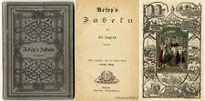 Aesop's Fabeln für die Jugend bearbeitet. 7 kolorierte Tafeln von 1872.