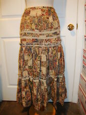 POLO Ralph Lauren Patchwork Tiered Skirt New 8 Vintage Romantic A-line NWT Lace