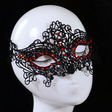 Masquerade Ball Red Crystal Hollween Party New Design Women Lace Face Eye Mask