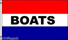 BOATS For Sale Hire Shop Advert Sale Sign Advertising POS 5'x3' Flag !