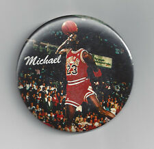 1988 Michael Jordan SLAM Dunk contest button FREE Throw line Chicago Bulls pin