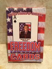 Limited Edition USA Freedom Playing Cards, George W Bush, 52 American Heroes NIB