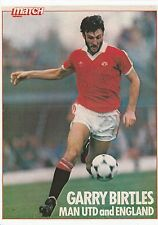 GARRY BIRTLES MANCHESTER UNITED 1980-1982 ORIGINAL SIGNED MAG PICTURE CUTTING