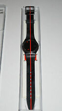 Original Uhr SWATCH Rosso Sur Blackout (GZ119)-Swiss Made-NEU/OVP+neue Batterie