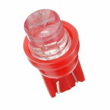 5 red T10 5W wedge globe LED Car Light Bulbs, ideal for dash conversions