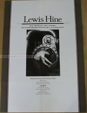 GERMAN EXHIBITION POSTER 1996 LEWIS HINE CAMERA AS WITNESS SOCIAL DOCUMENTAL art