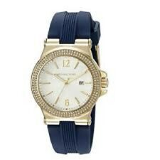 New Michael Kors Watch MK2490 Gold Mini Dylan Sunray Dial 33mm crystal-set bezel
