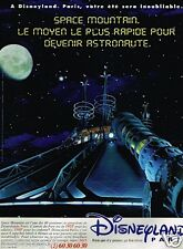 Publicité advertising 1996 Disneyland paris .... Space Mountain