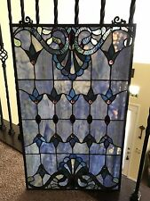 "Tiffany Style Stained Glass Window Panel 16""x26"""