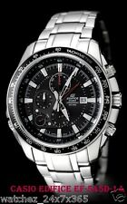 CASIO EDIFICE CHRONOGRAPH EF-545D-1A WITH SPLIT TIMER ALARM DATE DISPLAY STEEL