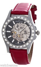 Anne Klein Women's  Automatic Red Leather Band Watch 10/8761