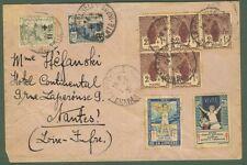 FRANCIA - FRANCE. Lettera del 1931 per Nantes. Francobolli ben dentellati.