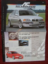 BMW AC SCHNITZER News & Trends large 1998 broadsheet style brochure Vol 2