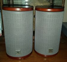 JVC Cherrywood Round Bookshelf Speakers SP-FSSD9 20W FREE US SHIPPING