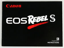 CANON EOS REBEL S INSTRUCTION MANUAL