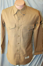 VIETNAM ERA US MARINE CORPS KHAKI SUMMER UNIFORM SHIRT W CHEVRONS & TROUSERS
