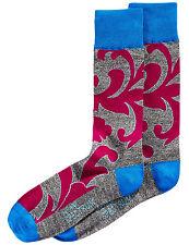 ALFANI Spectrum Mens Filigree Dress Socks Grey & Purple Size 10-13