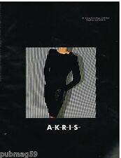 Publicité Advertising 1992 Haute Couture femme AKRIS