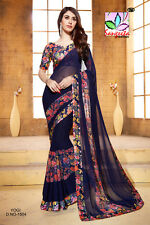 NEW INDIAN ETHNIC PAKISTANI BOLLYWOOD DESIGNER SAREE EDH SARI WEDDING PARTY WEAR