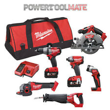 Milwaukee M18CPP6A-502C Fuel Powerpack - Includes 2x 5.0Ah Batteries 6 piece set