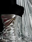 Silver Wet Look 4 Way Stretch Lycra Fabric NG253 SLV