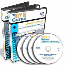 Photoshop Elements 11 Tutorial and Lightroom 4 Training 4 DVDs English Language