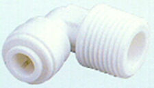 """100 Quick Connect Fitting1/4"""" Male thread x 1/4"""" Tube  John Guest style Elbow"""