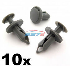 10x 8mm Long Mid Grey Trim Clips- Perfect for VW T4 & T5 Carpet & Van Linings