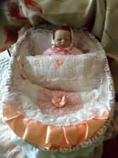 Ashton Drake Tiny Miracle EMMY( 10 Inch)OOAK Crib BY ANNAMAY Was £75 SALE