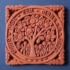 William Morris Orange Tree Decorative Terracotta Wall Tile - Made in England