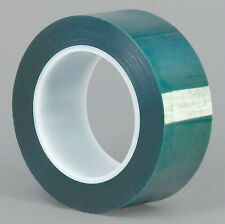 "HIGH TEMPERATURE POWDER COATING MASKING TAPE 1-1/8"" X 72 YARDS GREEN"