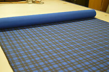 ROYAL BLUE CHECK TARTAN PUNK PRINT STRETCH COTTON ELASTANE TWILL FABRIC