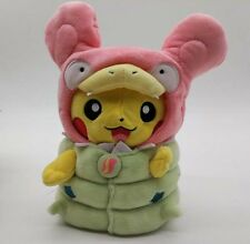 2016 Pokemon Center Plush Doll & Mascot Set Poncho Pikachu Mega Slowbro MGP -8""