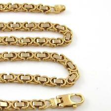 """HEAVY Solid 18K Yellow Gold Byzantine Link Chain Necklace 20"""" 4mm 30 Grams"""
