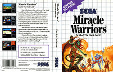 MIRACLE WARRIORS            -----   pour SEGA MASTER SYSTEM  // BE-PN