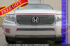 GTG, 2012 - 2014 HONDA RIDGELINE 4pc CHROME UPPER BUMPER & ACCENT BILLET GRILLE