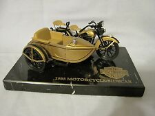 HARLEY DAVIDSON 1933 MOTORCYCLE/SIDECAR ULTRA EDITION W/MARBLE BASE