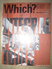 VINTAGE WHICH MAGAZINE SEPTEMBER 1967 INTEGRAL POWER TOOLS - UHT MILK - MOPS