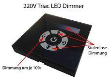 Triac Touch Wand Einbau LED Schalter Controller GU10 E27 Dimmer 230V Hochvolt