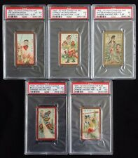 PSA Graded Lot Of Chinese Tobacco Cards HWA CHING Co. LTD Shanghai