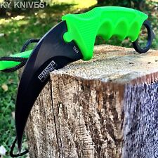 TACTICAL COMBAT KARAMBIT NECK KNIFE Survival Hunting BOWIE Fixed Blade & SHEATH