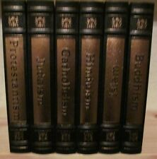 E89  ~ EASTON PRESS ~ LEATHER ~ GREAT RELIGIONS ~ 6 VOLUMES