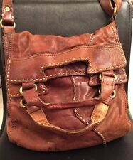 Lucky Brand Italian Leather Brown Cross Body Shoulder Bag