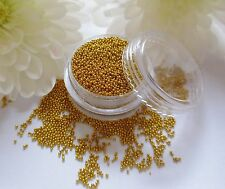 Tiny 5ML ORO Caviale Perline Metallo Palline GEM pot rotondo WEDDING Nail Art Craft