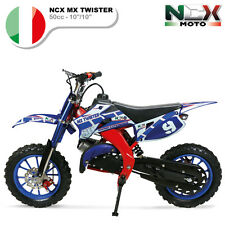 MINI CROSS MOTO ELETTRICA NCX MX TWISTER BASIC 10/10 50cc Motore: 2 Tempi BLU