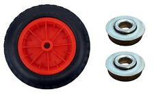 "PU 16"" Puncture Proof RED Wheelbarrow 16 MM ROLLER BEARINGS Tyre 4.80 - 8 WHEEL"