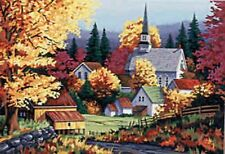 Autumn Colors~counted cross stitch pattern #591~Landscapes Trees Graph Chart